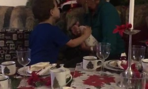 Mom Delighted over Dalmatian Christmas Gift