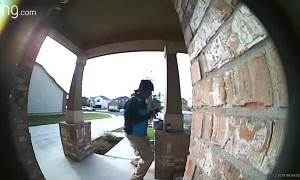 Delivery Driver Dances After Discovering Holiday Treats