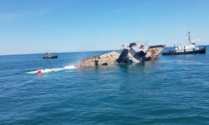 Historic Ship Sinks onto Artificial Reef
