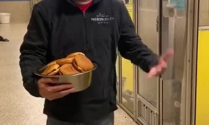 Shelter Dogs Given Cheeseburgers for Dinner
