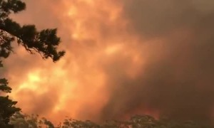 Massive Australian bushfire caught on camera
