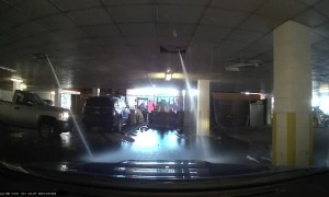 Van Sets Off Sprinklers in Shopping Plaza Garage