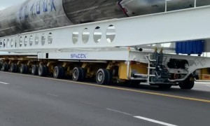 Hauling a Rocket on the Road