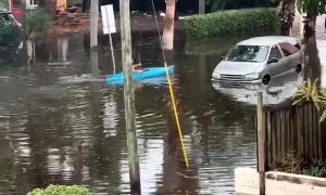 Flood Can't Stop Kayaking Floridian