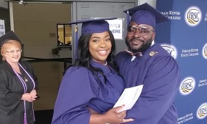 Husband Surprises Wife with Same Day Graduation