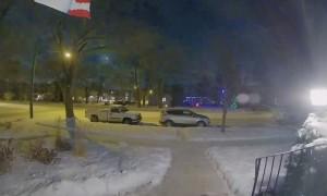 Meteor Streaking Across Saskatoon