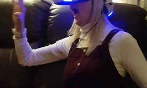 VR Rollercoaster Scares Woman Silly