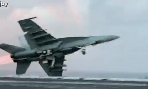 Jet Leaves Aircraft Carrier