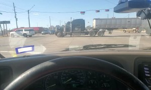 SUV Tows a Big Rig