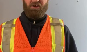 County Plow Guy Sings Humorous Announcement