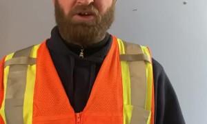 County Plow Guy Sings Humorous Announcement
