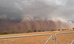 Dust Storm in through Time-Lapse