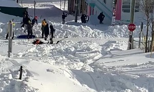 St. John's Residents Enjoy Snow Day