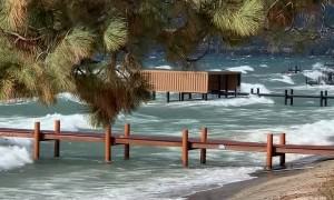 Windstorm Leads to Big Waves on Lake Tahoe