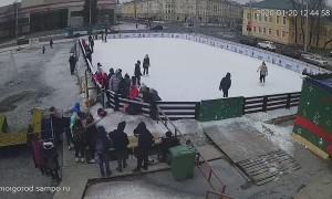 Holiday Display Falls Onto Crowd