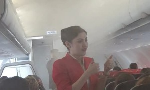 Smoke Drifts through Airplane Cabin