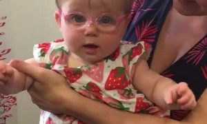 Cute Baby Gets Glasses