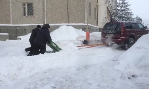 An Improvised Russian Snowplow