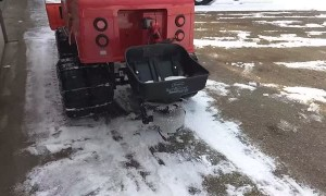 Sidewalk Size Snow Plow and Salt Spreader
