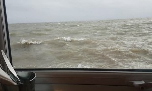 Seaside Restaurant Swamped by Huge Tide