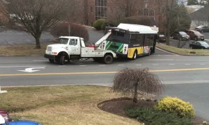 Tow Truck Outmatched by Heavy Load