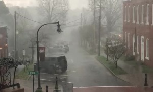 Lightning Bolt Strikes Downtown Wake Forest