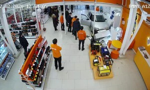 Uncontrolled Car Drives through Store
