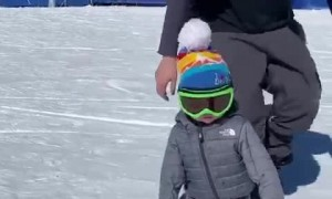 10-Month-Old Snowboarding in Colorado