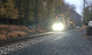 Deer Makes Close Call on Railway