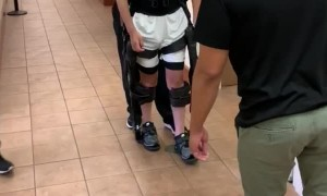 Exoskeleton Suit Helps Quadriplegic Walk Again
