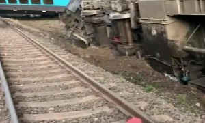 Shocking scene in Australia as passenger train derails