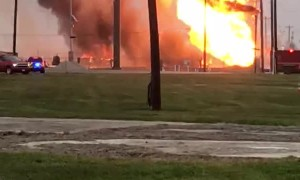 Gas Pipe Explosion in Texas