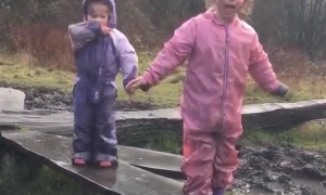 Slippery Mud Leads to Unexpected Splash