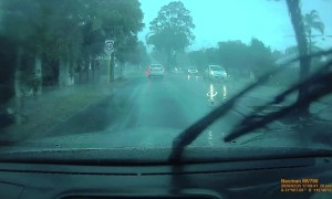 Tree Flattens Car in Perth Storm