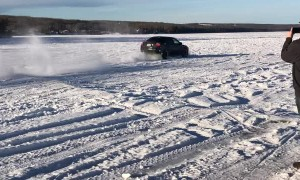 Car Gets Some Air on Charlie Lake