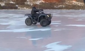 Ice Ballet With an ATV