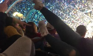 Grizzlies Fan Falls Down Seat Row