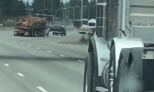 Truck Driver Goes from Guardrail to Guardrail