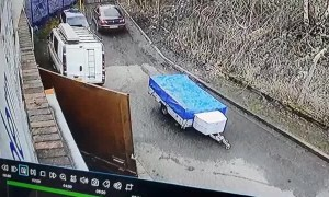 Fierce Storm Blows Security Gate into Unsuspecting Man
