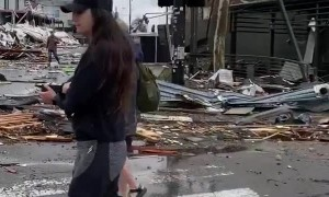 Footage of Destruction After Tornado in Nashville