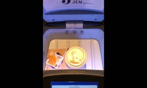 Self-Serving Robot Delivers Coffee in Hotel
