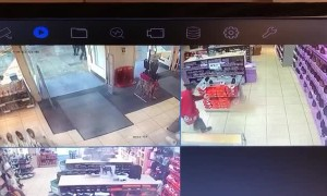 Shoplifter Slips Over After Slipping Past Security Scanner