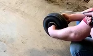 Rolling a Removed Wheel with an Air Wand