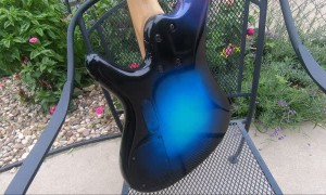 Spray Painting a Custom Space Design On Guitar