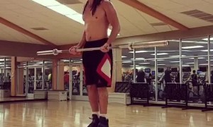 Man Shows off Some Serious Balancing Skills in the Gym
