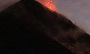 Hiking Expedition Encounters Eruption From Volcano of Fire