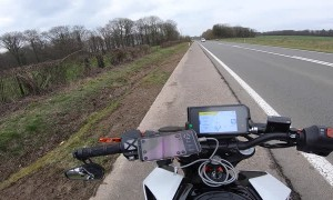 Near Miss as Motorcycles Overtake
