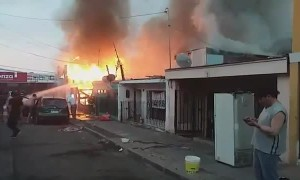 Fire is declared in Diego Portales
