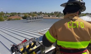 Fire Department rescues kid's teddy bear on school roof