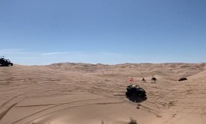 UTV Catches Fire During Sand Dune Drive